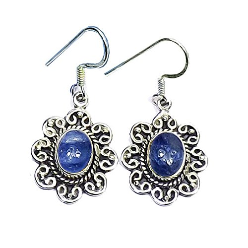 (Sitara Collections SC10425 Flower Sterling Silver Earrings, Tanzanite)