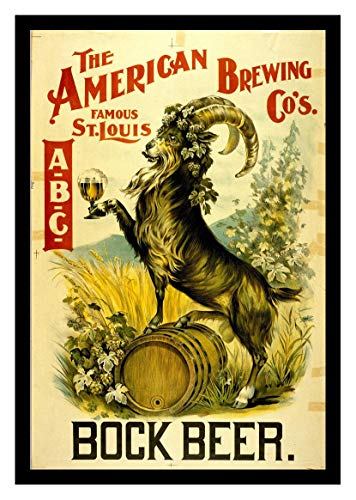 (Iron Ons 8 x 10 Photo American Brewing Co Bock Beer Vintage Old Advertising Campaign Ads)