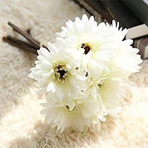 Inverlee 1Pcs Artificial Flowers Leaf Magnolia Floral Fake Flowers Wedding Bridal Bouquet DIY Home Garden Decor 79