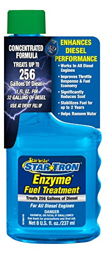 Star Tron Enzyme Fuel Treatment - Super Concentrated Diesel Formula 8 oz - Treats 256 Gallons