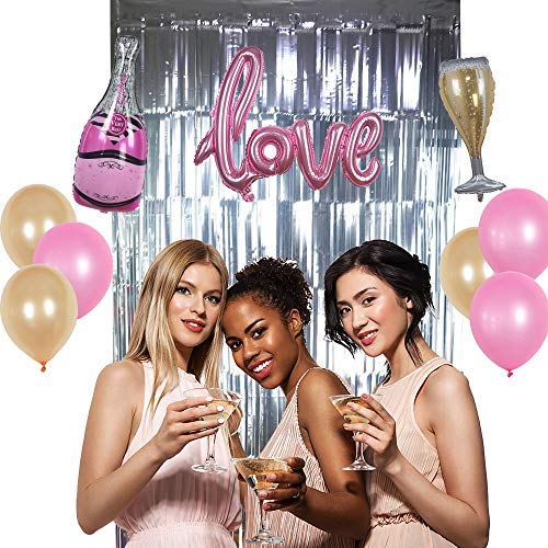 for All Parties Events Birthday,Bridal,Wedding,Karaoke,Holiday,Prom,Graduation etc Silver 3.3 ft x 9.8 ft by CovalentTM Metallic Tinsel Foil Fringe Photo Backdrop Decoration