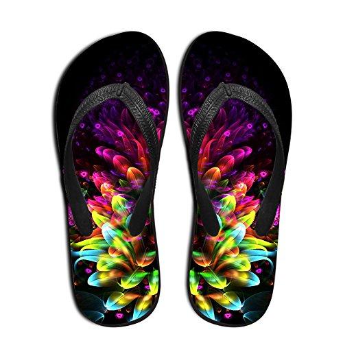 HUGS IDEA Mens Flip Flops Summer Beach Home Slippers Floral 0vamgc