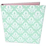 """bloom daily planners Binder (+) 3 Ring Binder (+) 1 Inch Ring (+) 10"""" x 11.5"""" - Mint Damask"""