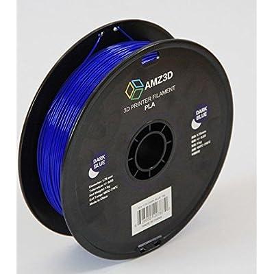 1.75mm Dark Blue PLA 3D Printer Filament - 1kg Spool (2.2 lbs) - Dimensional Accuracy +/- 0.03mm