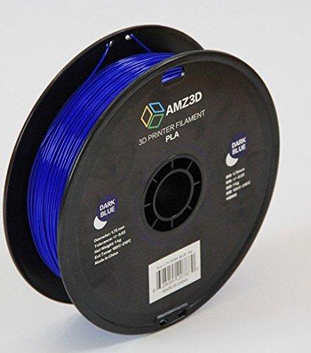 1.75mm Dark Blue PLA 3D Printer Filament - 1kg Spool (2.2 lbs) - Dimensional Accuracy +/- 0.03mm AMZ3D