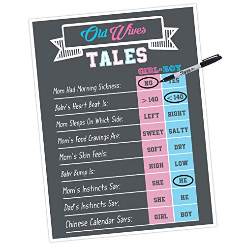 Gender Reveal Games And Decorations Old Wives Tales Prediction And