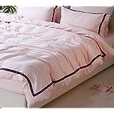 BEIRU Egyptian Long-staple Cotton Four-piece Bedding Simple Welt Design Large Four-piece Bed Single ZXCV (Size : 220240CM)