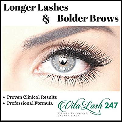 VitaLash 247: BEST Eyelash Growth Serum with Vitamins and Peptides for Enhanced Long, Full, Beautiful Healthy Eyelashes and Fuller, Thicker Eyebrows