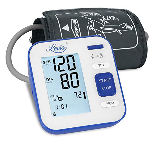 Blood Pressure Monitor Upper Arm, LOVIA Accurate Automatic Digital BP Machine for Home Use & Pulse Rate Monitoring Meter…