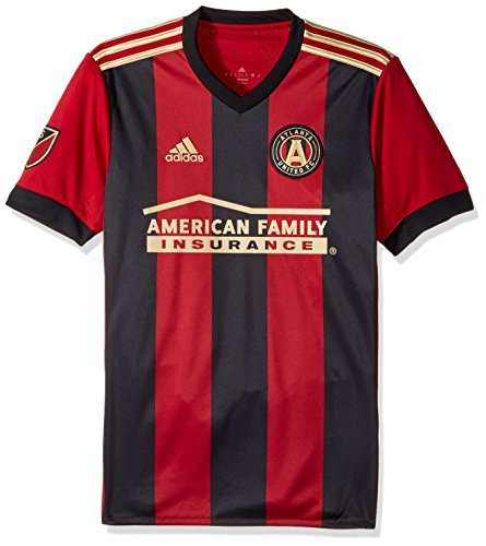 (MLS Atlanta United Adult Men Replica Wordmark s/jersey,Small,Red)