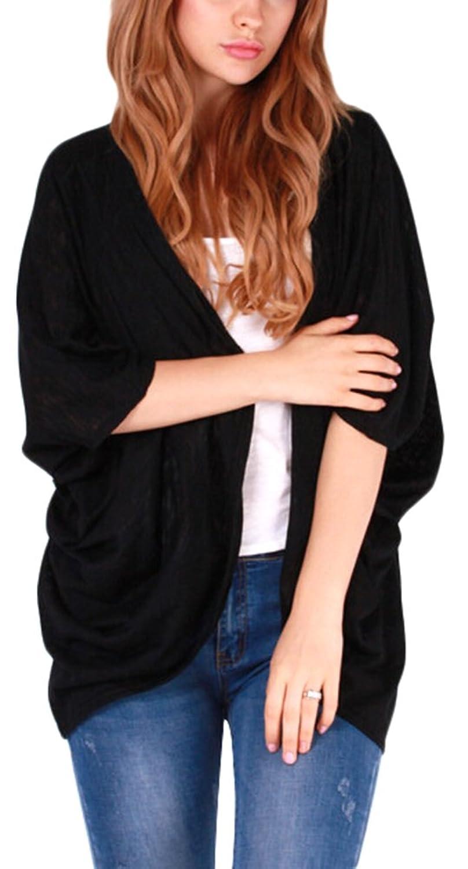 Rose-Summer Mode Frauen Langarm-Strickjacke lose Strickjacke-Jacken-Mantel Outwear Top