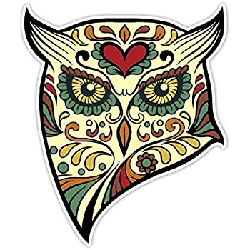 Osmdecals animal owl sugar skull sticker version 40 day of the dead vinyl wall
