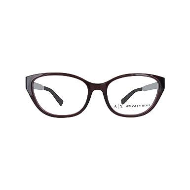 9dfcce2fc121 Armani Exchange AX3033 Eyeglass Frames 8003-54 - Opal Burgundy AX3033 -8003-54