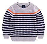 #7: Wei Juan Boys Crewneck Sweater Cotton Kids Long Sleeve Striped Pullover Sweatshirts 2-7T