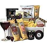 A Taste of the Vineyard Cheese and Salami Gift Box - Perfect for Cheese and Artisan Cured Meat Lovers as well as the ideal Business, Housewarming or Thank You Gift.