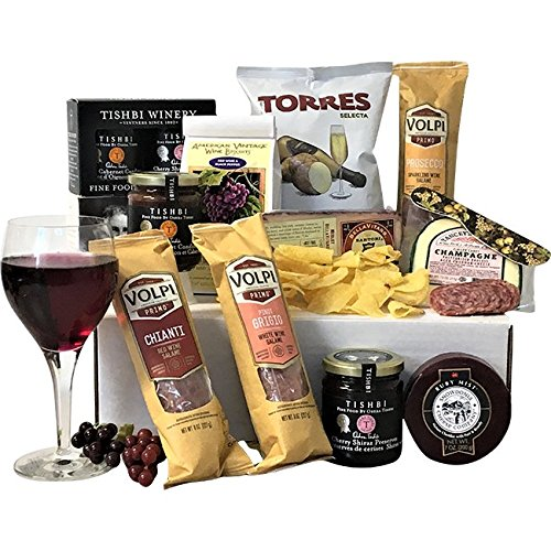 A Taste of the Vineyard Cheese and Salami Gift Box - Perfect for Cheese and Artisan Cured Meat Lovers as well as the ideal Business, Housewarming or Thank You Gift. by TastefulTreats.com
