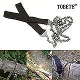 TOBETE Pocket Chain Saw Hand Saw Tool Survival Gear Pocket...