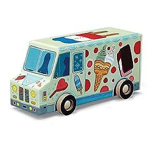 "Crocodile Creek Ice Cream Truck 48 piece Jigsaw Puzzle in Vehicle Shaped Box 8"""