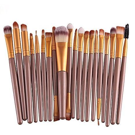 Leisial Professional Laine Pencel - Set de 20 brochas de maquillaje, Kit de aseo, Set de brochas de maquillaje de marca, blanco y negro, talla ú nica talla única HB152521VVUF1107