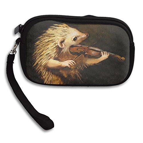 Printing Portable Small Cute Playing Violin Bag Receiving Deluxe Hedgehog Purse crIUIRW
