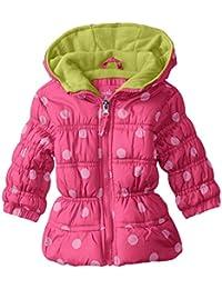 Baby-Girls' Polka Dot Puffer Jacket