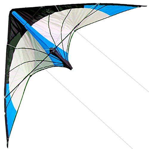 Hengda Kite-Star Rhyme 48 Inch Dual Line Stunt Kite For Kids and Adults, outdoor sports,Beach and Fun sport kite,Handle,Line,and Bag included (Stand Rods Star)