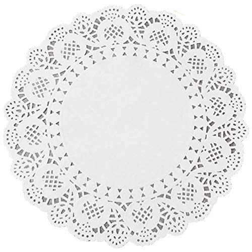 500 Count Set of 10 inch Doilies Paper Lace: Paper Doilies 10 inch for Tables, Crochet Round White Lace Decorative Design Doily for Party or Wedding Doilies Paper Lace 10 inch by Neverland Product Company