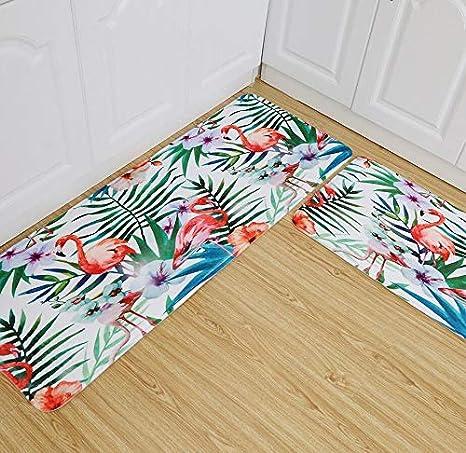 Amazon.com: SAULLA Mat|Soft Rugs Tropical Plants Flamingo ...