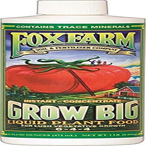 Fox Farm 6-4-4, 1-Pint FX14092 Grow Big Liquid Concentrate Fertilizer,...