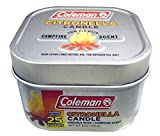 Coleman Scented Citronella Candle, Campfire Scent with Wooden Crackle Wick