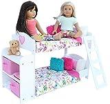Bedroom Set For 18 Inch American Girl Doll- Bunk Bed, Bookshelf,Bedding Sets,Pajama Sets ,20 Pcs
