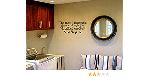 yingkai the most memorable days end with the dirtiest clothes funny laundry room decal living room vinyl carving wall decal sticker for home window