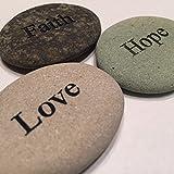Faith Hope Love Engraved Stones - 3 Stone Set