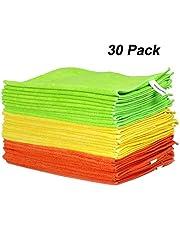 WORKPRO Bayetas de Limpieza Microfibra Multiuso 30 Unidades 80% Poliéster y 20 % Poliamida