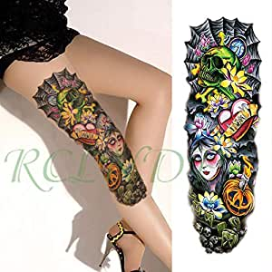 ljmljm 3pcs Impermeable Tatuaje del patrón de Onda Etiqueta Flor ...