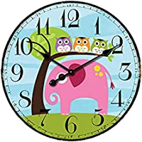 SkyNature Colorful Decorative Wooden Wall Clock Silent...