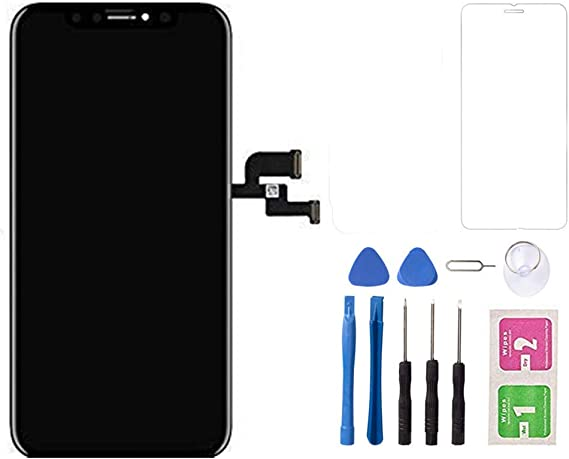 Color : Blue MOBILEACCESSORIES for jodnn dian TENGLIN LCD Screen and Digitizer Full Assembly with Frame for Xiaomi Mi 8 Lite Black