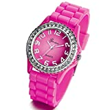 Lancardo Popular Silicone Quartz Men Women Girl Boy Unisex Jelly Wrist Watch with Gift Bag