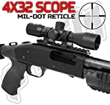 Trinity Mossberg 500/590/835 Scope Mount+4x32 Mil Dot Reticle Scope Optic