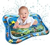Dinglong Baby Intelligence development,Inflatable Baby Water Mat Fun Activity Play Center for Children & Infants (blue)
