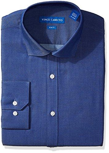 - VINCE CAMUTO Men's Slim Fit Denim Dress Shirt, 17.5 34/35