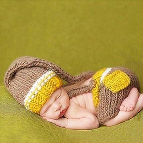 PEPEL Bebé recién Nacido niña niño Crochet Knit Hat Traje ...