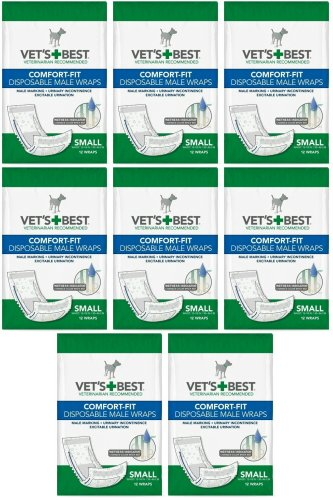 Veterinarian's Best Comfort-fit 12 Count Disposable Male Wrap, Small by Vet's Best