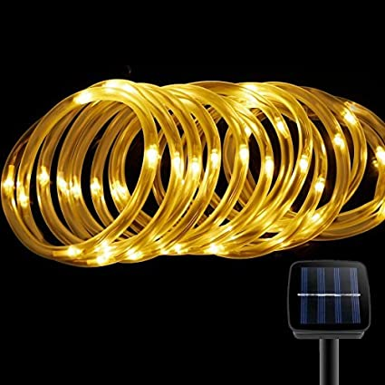 Solar rope lights findyouled outdoor waterproof 100led 33ft solar rope lightsfindyouled outdoor waterproof 100led 33ft decoration lightautomatically working from dusk aloadofball Choice Image