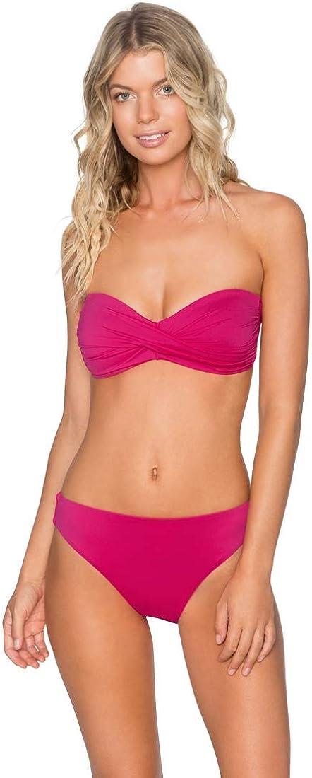 Swim Systems Womens Wild Rose Heart Breaker Bandeau Bikini Top DD Cup//Pink