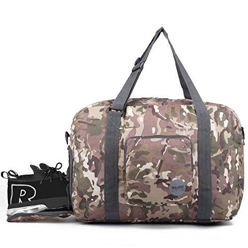 2af0d6d752bd WANDF 40L Foldable Duffle Bag with Shoe Compartment
