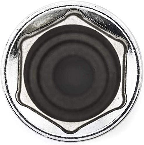Juego de 15 llaves de vasos largos 3//8de 6 caras 8 a 22mm cromo vanadio con regleta