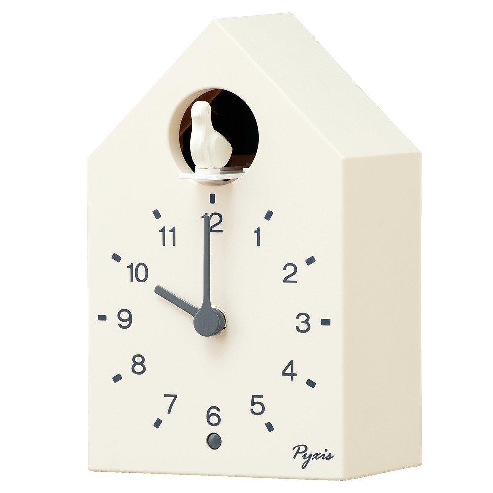 セイコー クロック 掛け時計 置き時計 兼用 アナログ かっこう時計 数取り PYXIS ピクシス 木枠 天然色木地 NA609A SEIKO B07B369Y33 天然色木地|木枠 天然色木地