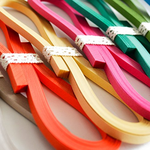 JUYA Tant Paper Quilling Set 1280 Strips 32 Colors 39cm Length/Strips (Paper Width 3mm) by JUYA (Image #3)
