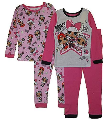 L.O.L. Surprise! Little/Big Girls Four-Piece L/S Pajama Pant Set (10)
